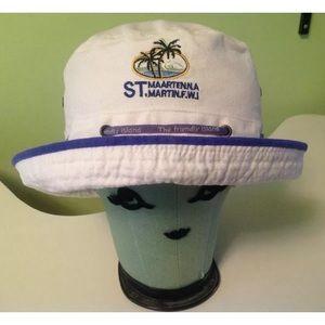 Other - St. Maarten bucket style white beach hat